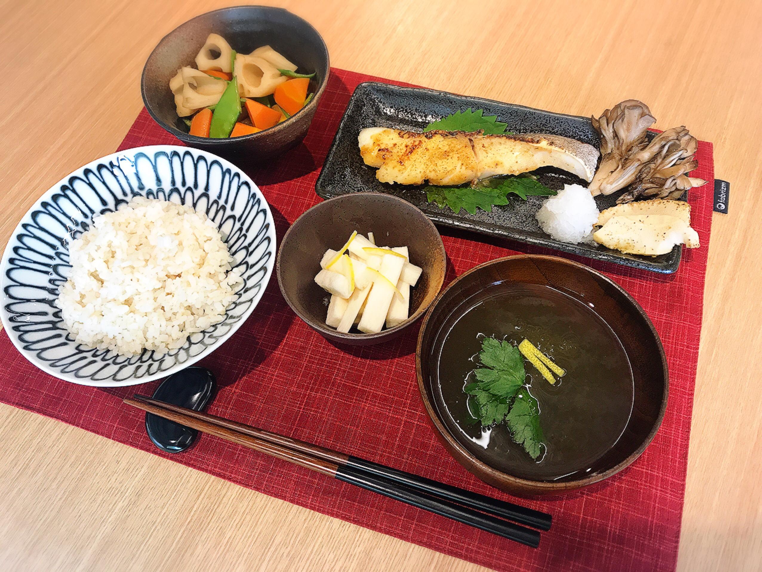 山椒香る鱈の西京焼き定食