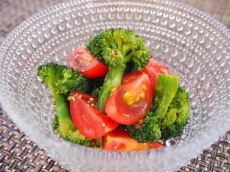 ブロッコリーとトマトのマスタードサラダ
