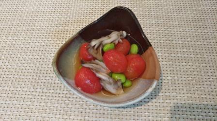 秋香るトマトの煮びたし