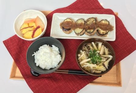 秋野菜たっぷりのヘルシー和定食